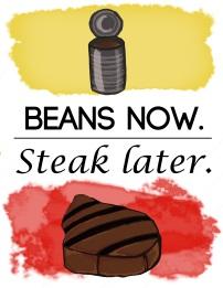 Beans Now. Steak Later. Amanda Liberty 2015