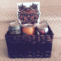 Father's Day Gift - Bear, Beer, Basket.