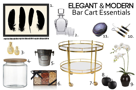 Bar Cart Essentials Holiday Hostess Party Entertaining